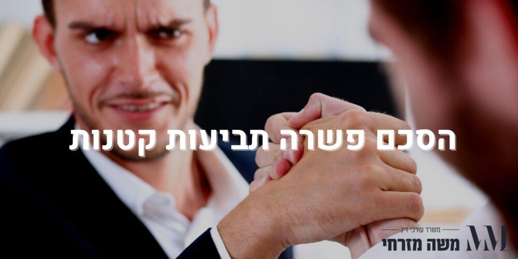 הסכם פשרה תביעות קטנות - עו